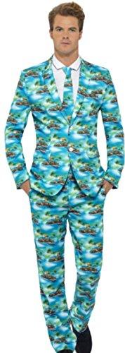 erdbeerloft - Herren Aloha Anzug, Kostüm, Karneval, Fasching, XL, Mehrfarbig (Tourist Halloween Kostüm)
