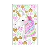 LUTER Unicorn Stickers Wall Decals Peel and Stick Cute Wall Decor Art Sticker for Girls Women Kids Bedroom Kindergarten