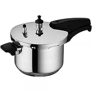Wonderchef Secura 4 Stainless Steel Pressure Cooker, 3 litres, Silver