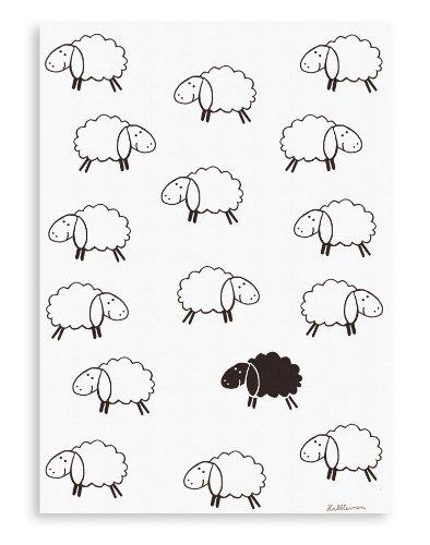 Triolino Mezza Lino canovaccio formato Black Sheep 50 cm x 70 cm