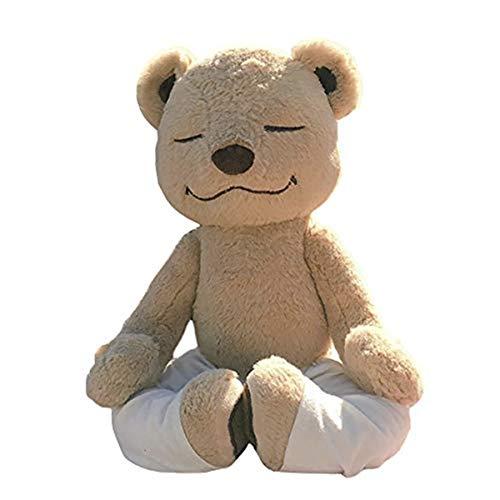 Blanketswarm Ours en Peluche Animal Jouet Souple Remodelable Interchangeable Pose Yoga Ours Mignon Ours en Peluche Jouets Cadeaux pour Enfants bébé Enfant