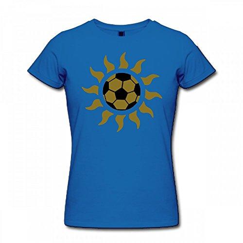 T Shirt For Women - Design Ball Sun Shirt blue