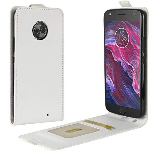 HualuBro Cover Moto X4, Flip Case in Pelle Portafoglio Cover [Funzione Stand] [Slot Carte] Leather Wallet Phone Custodia per Motorola Moto X4 (Nero)