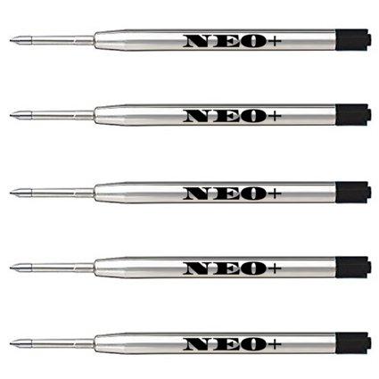 Ersatz-Minen für Kugelschreiber, qualitativ hochwertig, schwarz, 5 Stück Auch geeignet für Parker Kugelschreiber