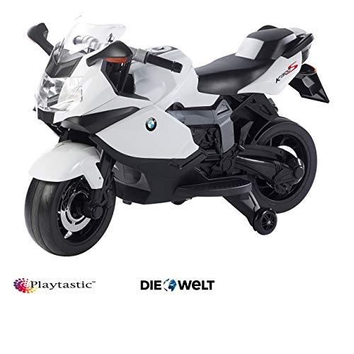 Playtastic Elektro Motorrad: Original BMW-Lizenziertes elektrisches Kindermotorrad BMW K1300 S (Kinderfahrzeug)