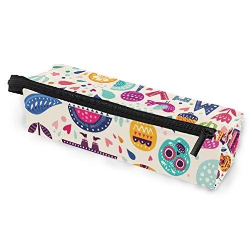 Pencil Bag Etui Etui Shutterstock365409809 Doodle Mexiko Schädel Vogel und Blume Make-up Kosmetik Sonnenbrillen für Mädchen Jungen Travel School