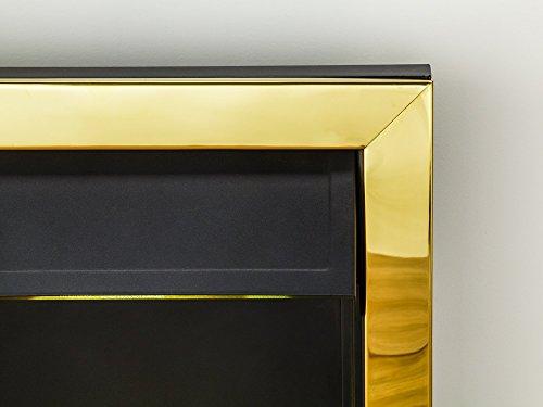41JnnYfsaGL - Adam Blenheim Electric Inset Fire, 2000 W, Brass