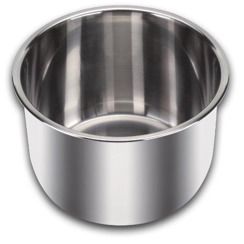 Instant Pot Innentopf aus Edelstahl (8 Liter) mit gekapseltem Dreischicht-Sandwichboden (Impact Bonding-Technologie)