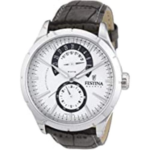 Festina Herren-Uhren Quarz One Size Grau Leder 32002456