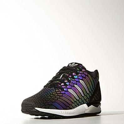adidas Originals Men's Zx Flux Black and White Running Shoes - 8 UK