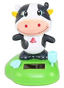 A Dancing Happy Moo Cow Solar Toy Car Dashboard Desk Home Decor Birthday Holiday Valentines Day Gift Us Seller
