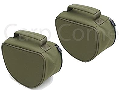Deluxe Carp Pike Sea Fishing Large Green Reel Case Bag X 2 from Carp Corner