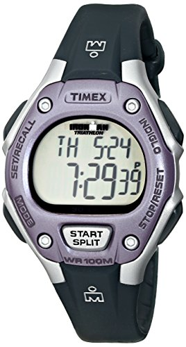 Timex - T5K410SU - Sport - Montre Femme - Quartz Digital - Cadran Violet - Bracelet Résine Gris
