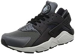 Nike Men's Air Huarache Run Prm Dark Greyblackblack Running Shoe 10.5 Men Us