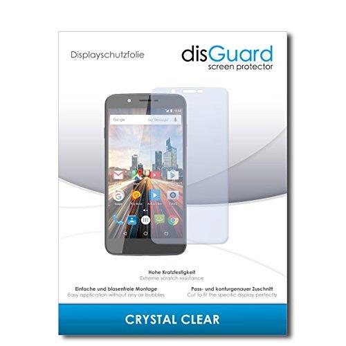 disGuard® Bildschirmschutzfolie [Crystal Clear] kompatibel mit Archos 55 Helium Ultra [3 Stück] Kristallklar, Transparent, Unsichtbar, Extrem Kratzfest, Anti-Fingerabdruck - Panzerglas Folie, Schutzfolie