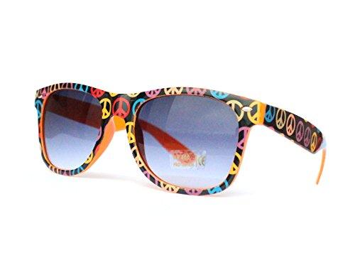 50er 60er Jahre Retro Vintage Sonnenbrille Sommerbrille Clubmaster Style Rockabilly Trend 2017 2018 Mode Fashion Fashionbrille Beach Club Designer Brille bunt peace (Mode Jahre Für Männer 60er)