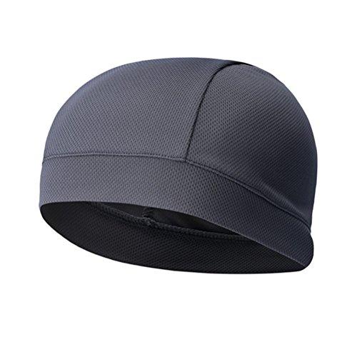 WINOMO imbottitura per casco, cappello Quick Dry Sport Sweat, alta elasticità, ciclismo, fascia tergisudore per motociclismo, ciclismo, corsa, calcio, grigio scuro