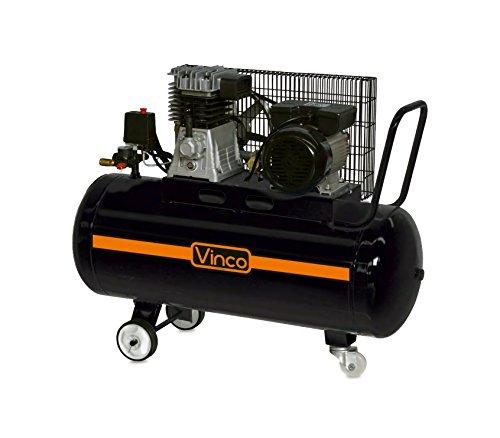 60604 Compresor de correa 100 LT VINCO monofasico 8bar 250 l/m