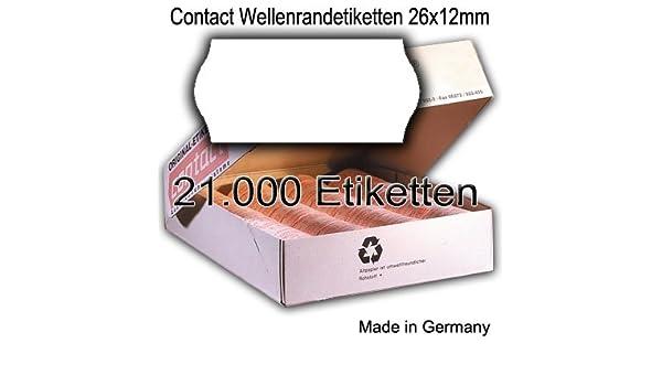 Etimark Smart Tovel Contact Meto 15000 Preisetiketten 26x12 SR weiss perm