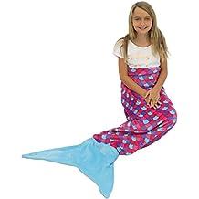 Pink and Purple with Blue Tail : Sleepyheads Mermaid Tail Blanket Super Soft Fleece Sleeping Bag for Kids and Adults Pink and Purple with Blue Tail (SH5500-5001)