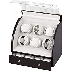 Auer Accessories Europa 326E Watch Winder for 6 Watches Ebony