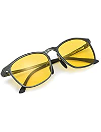 5593dbf644c6b Myiaur Night Driving Glasses Anti Glare Yellow Lens for Women Safety Driving  in Foggy Rainy