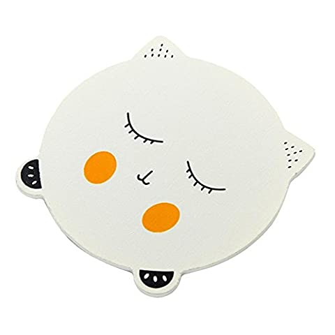 Igemy Chat mignon emoji Dessous de Verre coloré support de