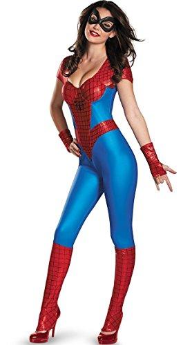Damen 6 Stück Jumpsuit/Bodysuit Spiderman/Spiderwoman Superhelden Kostüm Einegröße 36-40