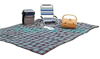 Jumbo Family Sized Picnic Rug Travel Blanket 3m x 2.2m
