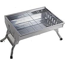 Barbacoa Estiramiento de acero inoxidable barbacoa estufas Portable Thicker Grill al aire libre de hogar de carbón Grill , 49*340*26mm