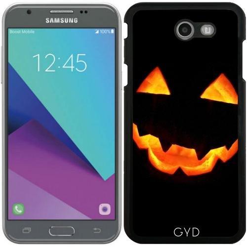 (DesignedByIndependentArtists Hülle für Samsung Galaxy J7 2017 (SM-J727) - Halloween Kürbis by hera56)