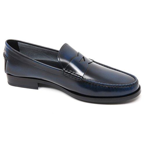 B8420 Hommes Mocassin Tods Chaussure Fond Bleu Chaussure En Cuir Mocassin Homme Bleu