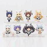 8 Teile/los 8 cm NEKOPARA Figur Schokolade vanille Azuki Kokos Ahorn Zimt Ei Action Figure La Soleil Modell Spielzeugfiguren