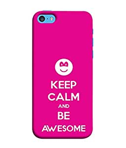 Fuson Designer Back Case Cover for Apple iPhone 5c (Calm Awesome Cute Smily )