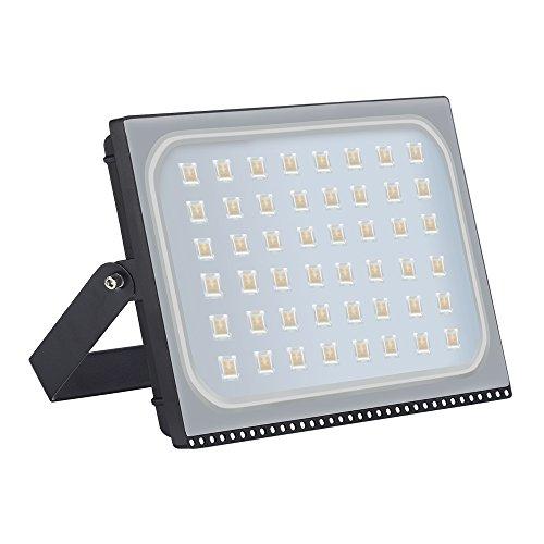 Faretto LED proiettore 300W esterno, impermeabile IP65, luce di sicurezza, design ultra-sottile e ultra-leggero [Classe di Efficienza Energetica A +] (Bianco caldo, 300W)