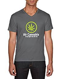 Touchlines Air Cannabis-We Fly Higher Than the Rest, T-Shirt Homme