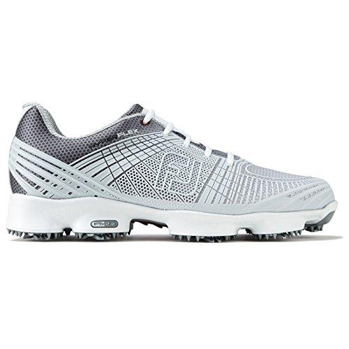 footjoy mens hyperflex 2.0 golf shoes (grey/silver)