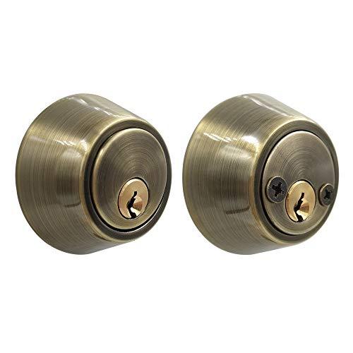 Juego de pomo de puerta de acero inoxidable con cerradura de doble cil