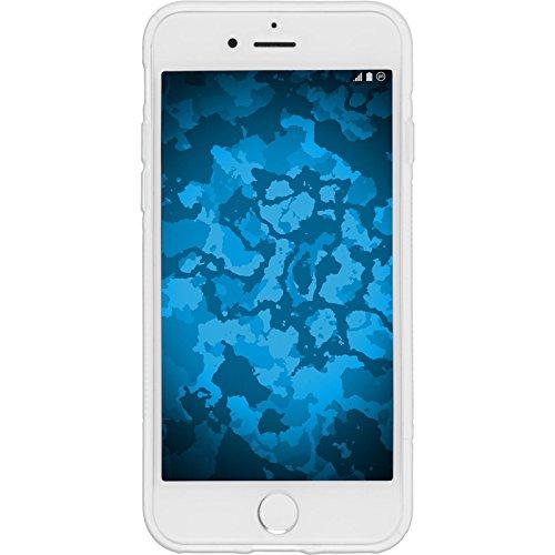 PhoneNatic Case für Apple iPhone 7 Plus Hülle Silikon schwarz S-Style Cover iPhone 7 Plus Tasche + 2 Schutzfolien Weiß