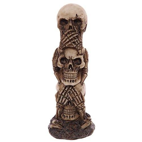 Totenkopf #50498 Totem Deko Nichts Böses Sehen Hören Sagen