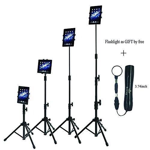 Raking Faltbarer Boden Ipad Tablet Stativständer-Halterungsfall innerhalb von 7-10 Zoll, Tragekoffer inklusive und Taschenlampe als Geschenk von Free