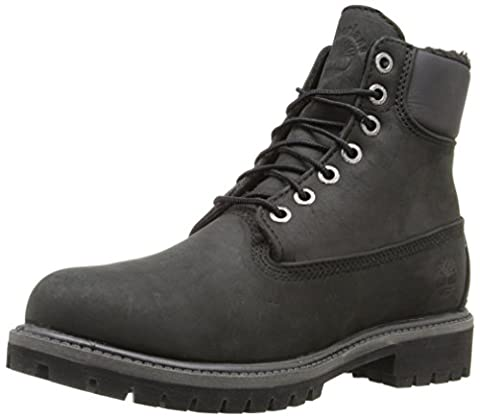 Timberland Mens Heritage 6 Inch Nubuck Boots, Black Roughcut Warm Lined, 41 EU