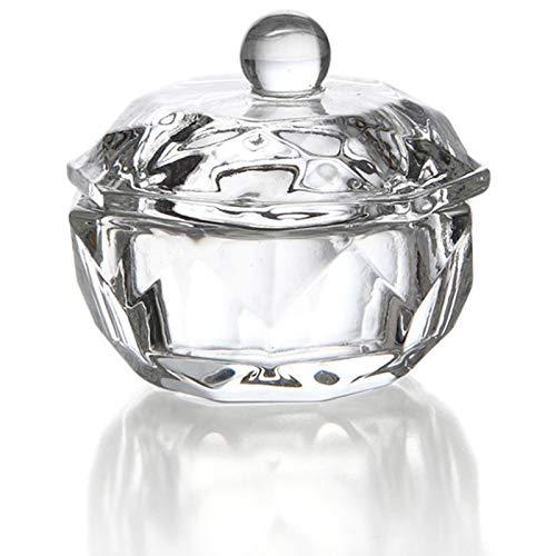 Cikuso 2 Stücke Glas Dappen Teller Deckel Schüssel Getr?nke Halter Maniküre Ausrüstung Nagel Werkzeug Für Nagel Kunst Acryl Pulver Flüssigkeit