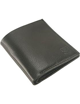 Cartera de primera calidad con sistema de protección RFID, diseño vertical, perfecta para; tarjetas, billetes...