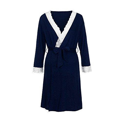 a1a839b98 QinMM Vestido de Lactancia Maternidad de Noche Camisón Mujeres Embarazadas  Ropa de Dormir Premamá Pijama Verano