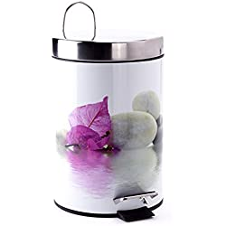 """MSV Kosmetikeimer """"Borneo"""" Mülleimer Treteimer Abfalleimer - 3 Liter – mit herausnehmbaren Inneneimer (Borneo)"""