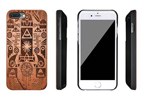 SunSmart iPhone 7 Plus Handy Cover aus Holz für iPhone 7 Plus mit 5.5''-Zoll-Display - echtes Sandelholz -08 IP7+5.5''-06