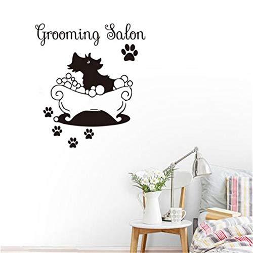 Nehmen Sie EIN Bad für den Hund kreative lustige Wandaufkleber Petshop Abziehbilder für die Hundepflege Salon Shop Home Decor 41x44cm
