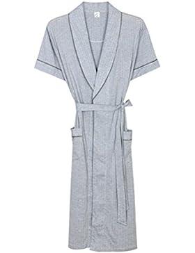 SUxian Gran Albornoz de Verano de los Hombres Mangas Cortas Albornoz Modal Pijamas del camisón