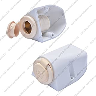 White 12V / 24V Surface Mount Accessory Power Socket 16A - Marine Motorhome